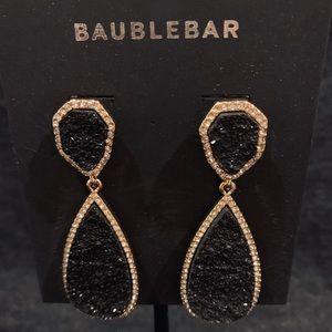 BaubleBar Black Crystal Drop Earrings